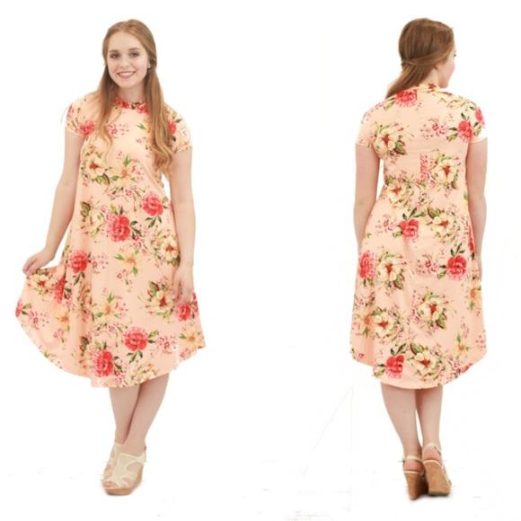 72b8e4470a NEW Shannon Floral Swing Dress - Blush